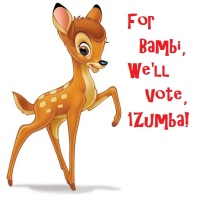 For  Bambi,  We'll  Vote,  1Zumba!