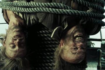 Image result for some pirates were tied to the mast
