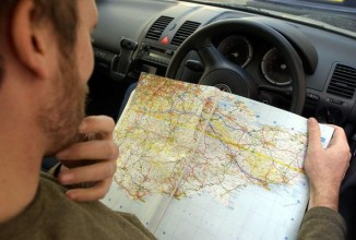 Image result for using a paper map instead of gps