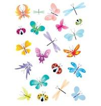 color vector butterflies set