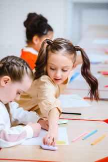 woman writing cute school