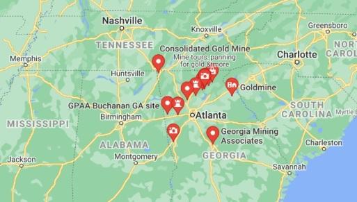 Georgia Gold Sites